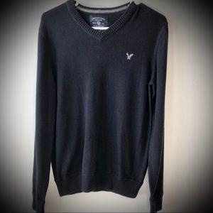 American Eagle Black V-Neck Sweater